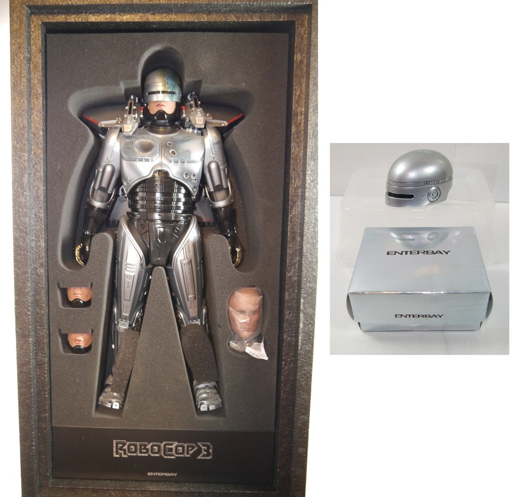 ROBOCOP 3 Actionfigur m. Jet Pack & EXCLUSIVE Helm HD MASTERPIECE Enterbay 1:4